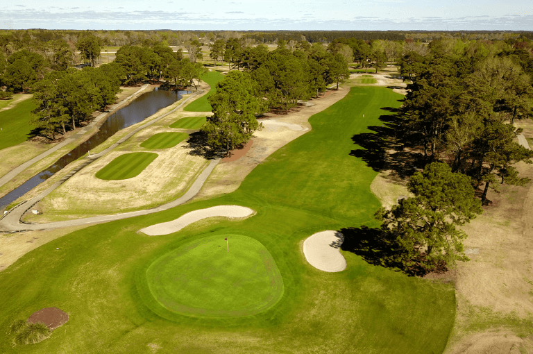 azalea sands north myrtle beach golf course aerial